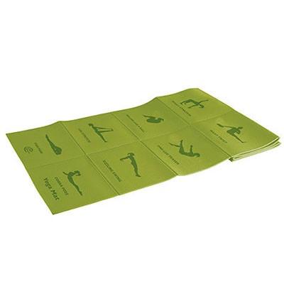 Коврик для йоги складной 173*61*0,5см 5455LW, салатовый